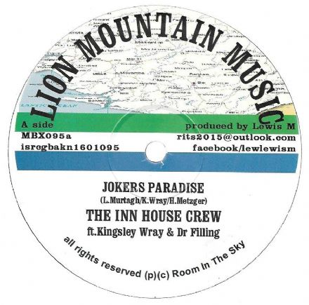 SALE ITEM - Inn House Crew - Jokers Paradise / ft Vin Gordon - Heavenless (Lion Mountain) 10""